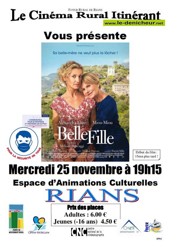 k25 - MER 25 novembre - RIANS - Belle Fille (cinéma) J11-2510
