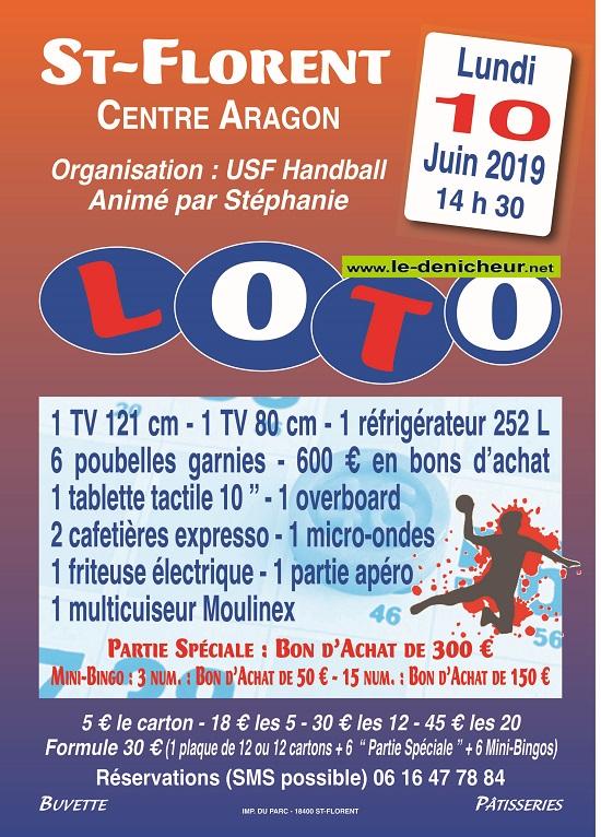 r10 - LUN 10 juin - ST-FLORENT /Cher - Loto de l'USF Handball */ Loto_h10