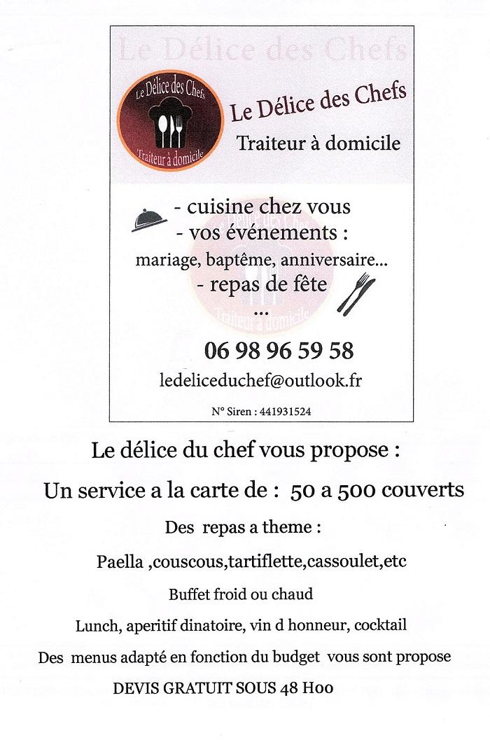p18. LE DELICE DU CHEF - Traiteur à domicile - Repas à thème - Buffet froid ou chaud Robine10