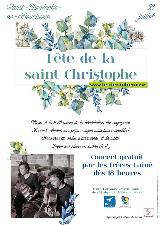 s28 - DIM 28 juillet - ST-CHRISTOPHE EN BOUCHERIE - Fête de la St-Christophe * Saint_12