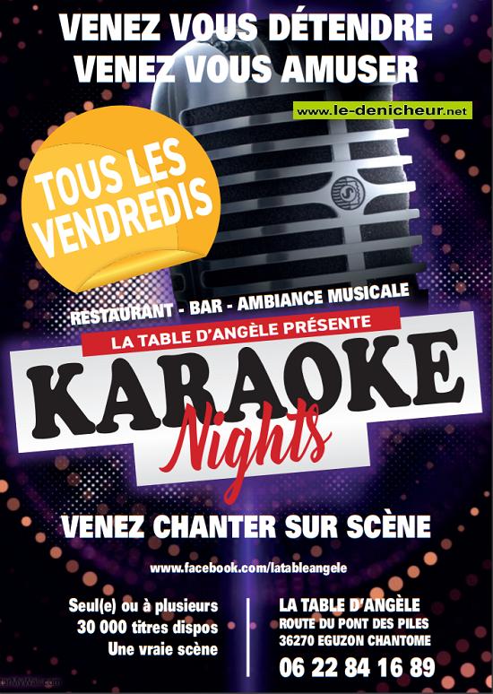 x20 - VEN 20 décembre - EGUZON - Karaoké Night */ Sans_t30