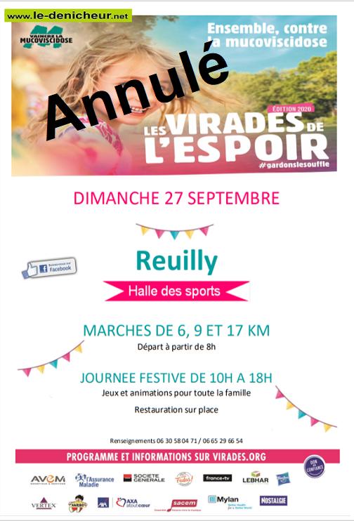 i27 - DIM 27 septembre - REUILLY - Marche annulée */ Sans_t61