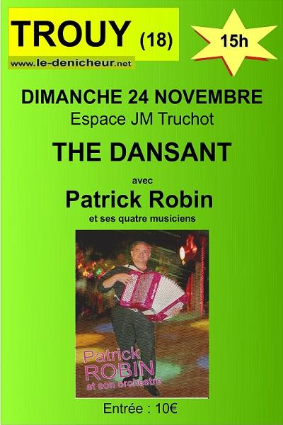 w24 - DIM 24 novembre - TROUY - Thé dansant avec Patrick Robin */ Trouy_10