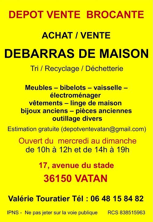 s21. VATAN (Indre) - Dépot Vente - Achat Vente - BROCANTE - Débarras de maison Vatan_16