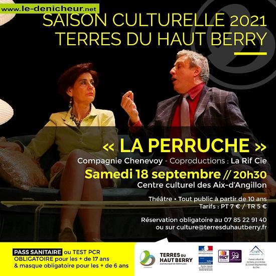 u18 - SAM 18 septembre - LES AIX D'ANGILLON - La Perruche (théâtre) Z09-1811