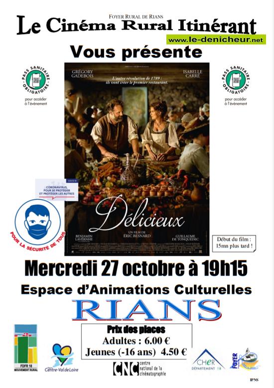 v27 - MER 27 octobre - RIANS - Délicieux (cinéma rural itinérant) Z10-2711