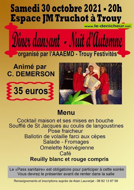 v30 - SAM 30 octobre - TROUY - Dîner dansant avec C. Demerson */ Z10-3011