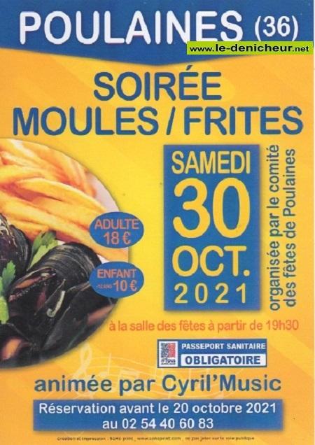 v30 - SAM 30 octobre - POULAINES - Soirée Moules/Frites avec Cyril Music */ Z10-3013