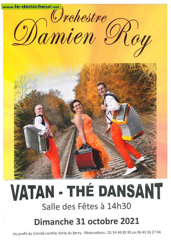 v31 - DIM 31 octobre - VATAN - Thé dansant avec Damien Roy */ Z10-3110