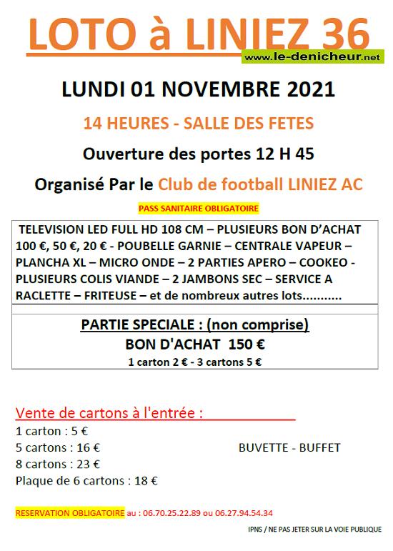 w01 - LUN 01 novembre - LINIEZ - Loto du foot */ Z11-0111