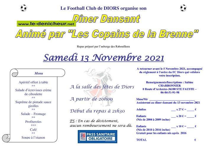 w13 - SAM 13 novembre - DIORS - Dîner dansant avec les Copains de la Brenne */ Z11-1310