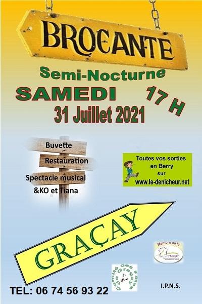 s31 - SAM 31 juillet - GRACAY - Brocante du comité des fêtes **annulée**/ Zz07-310