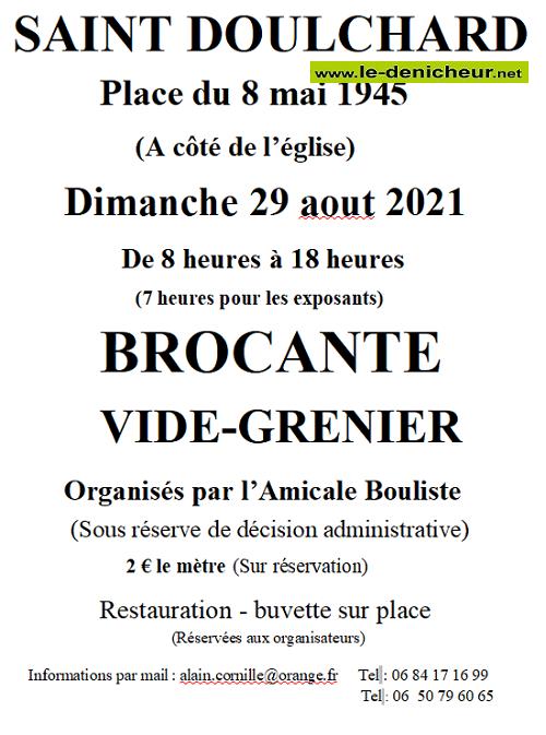 t29 - DIM 29 août - ST-DOULCHARD - Brocante de l'Amicale bouliste */ Zz08-210
