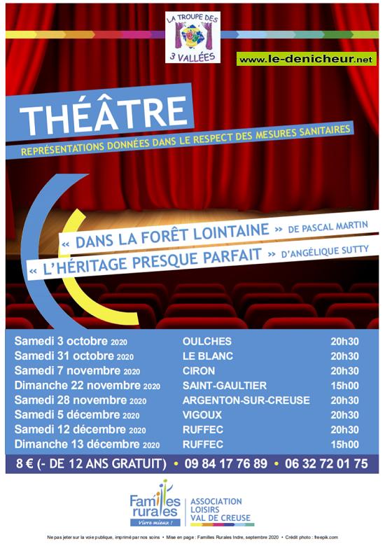 k28 - SAM 28 novembre - ARGENTON /Creuse - Soirée théâtre _* Zz10-310