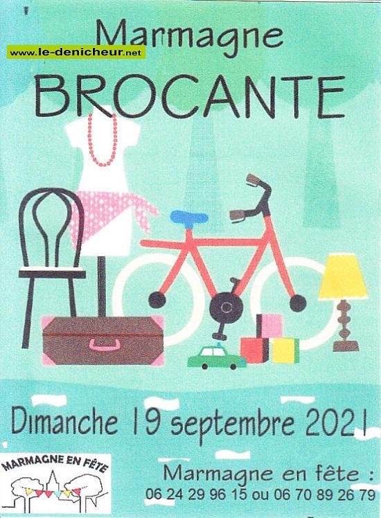 u19 - DIM 19 septembre - MARMAGNE - Brocante de Marmagne en Fête _* Zzz09-11