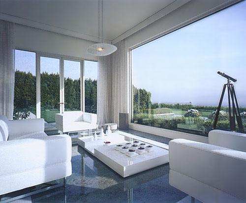 Placer des rideaux au-dessus de large fenêtre Sunrm210