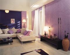 Peindre Murs Du Salon En Violet