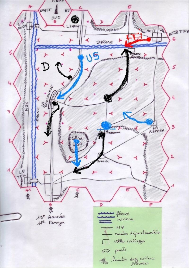 campagne RoE : bataille de Montélimar, 23-29 août 1944 Cartem12