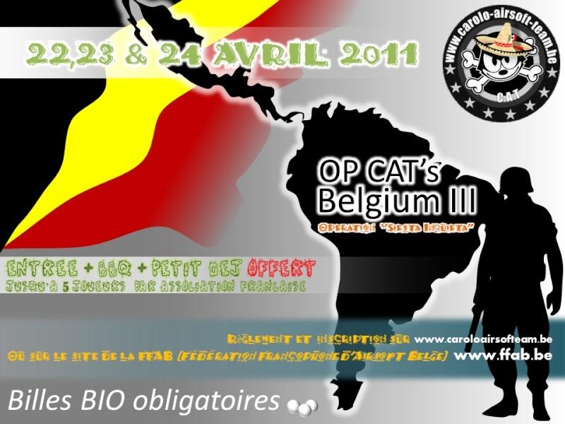 "OP CAT's Belgium III : Opération ""Siesta Inquieta"" - 22,23 & 24 avril 2011 Affich10"