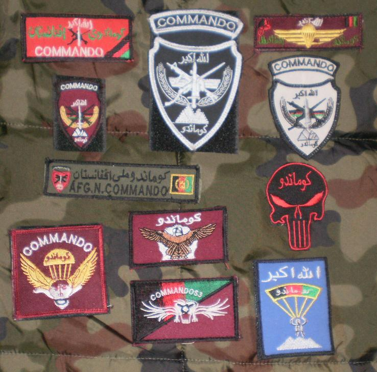 Afghan National Army Commando Patches Afghan12