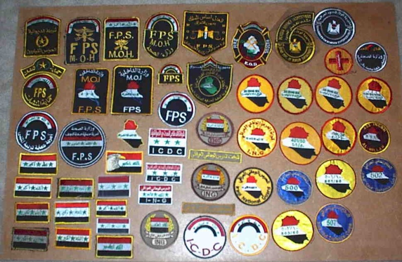 Iraqi insignia collection post 2003 Icdcin10