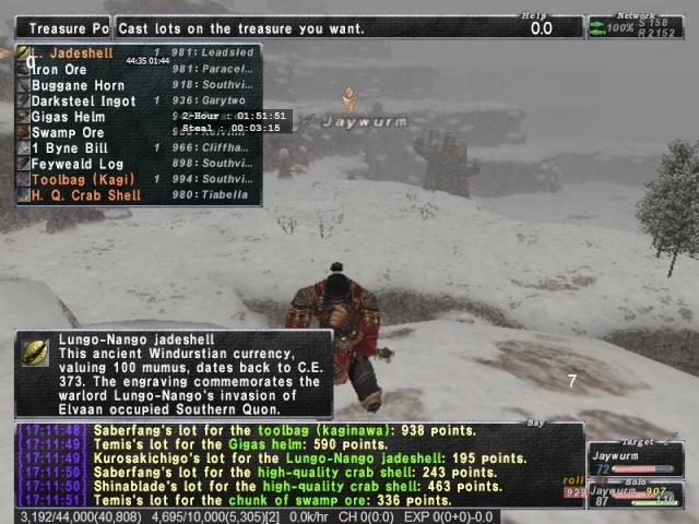 100 piece battle in glacier! Ffxi_212