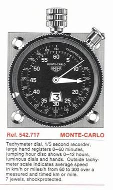 (VDS/ECH) HEUER Monte-Carlo Ref.542.717 Page7010