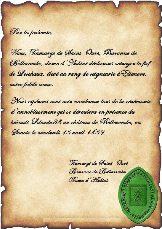 Anoblissement d'Elienore Invita10