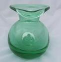 Bulbous Green Vase 00225