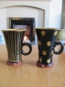 Studio slipware mugs stamped HUW 05211