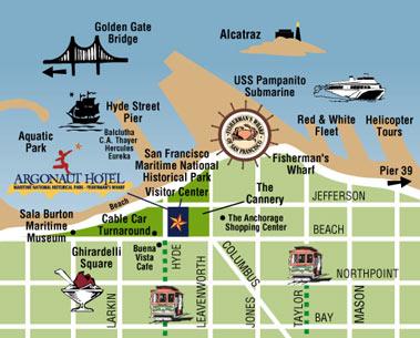 Entre Mickey, LA et San Francisco Map_sf10