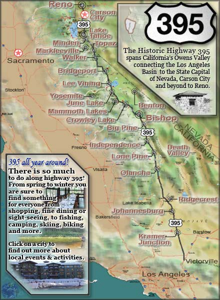 Bishop Mule Days - Californie Map_hi10