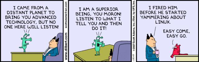 Some Linux humour Dilbli10