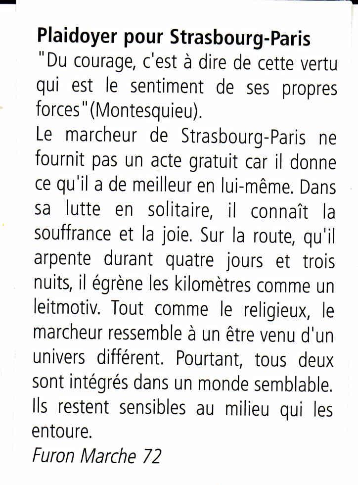 le strasbourg paris 2010  comment ca se pase Textes11