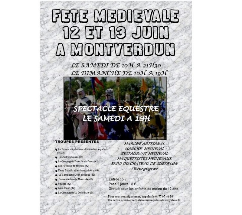 grande fete médiévale de montverdun pour le compte de l'assocoiation histoire et patrimoine 210