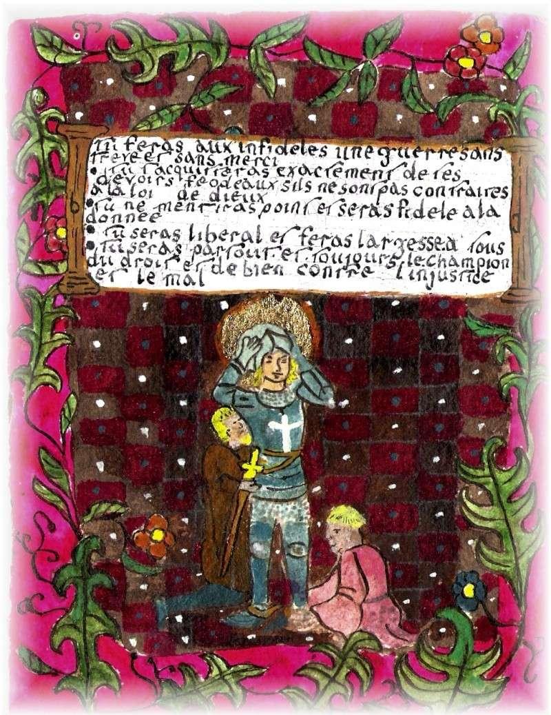 les dix commandements du code de la chevalerie Sans_t24