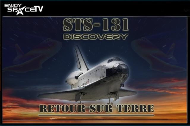 EnjoySpaceTV : retour de Discovery (STS-131) en français Return10