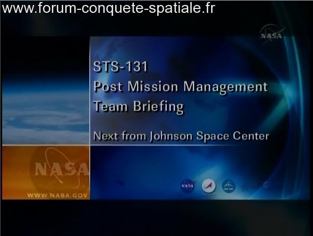 [STS-131 / ISS19A] Discovery : déroulement de la mission - Page 3 Sans_255