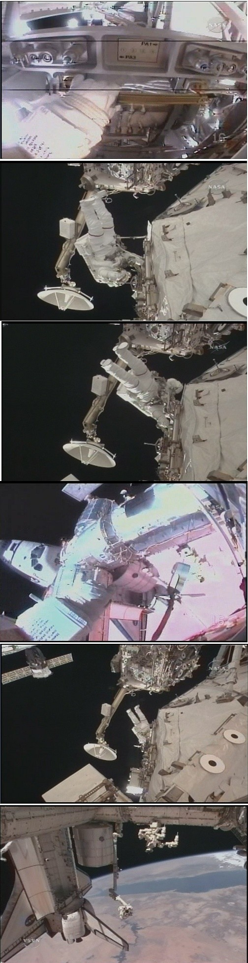[STS-131 / ISS19A] Discovery : EVA 1 Anderson et Mastracchio Sans_293