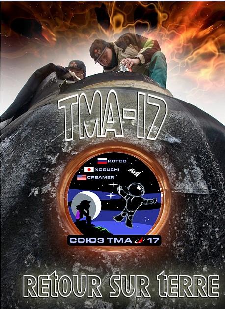 Atterrissage de Soyouz TMA-17 Sans_737