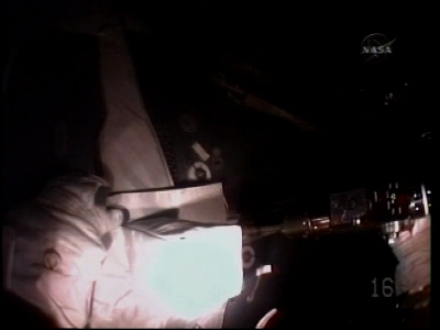 [STS-130 endeavour]ISS20A  EVA#3 Behnken & Patricks. fil Vlcsna38