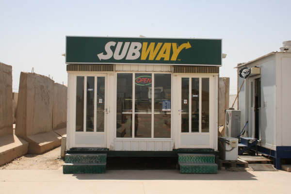 Shops in Iraq bases and FOBs Subway10