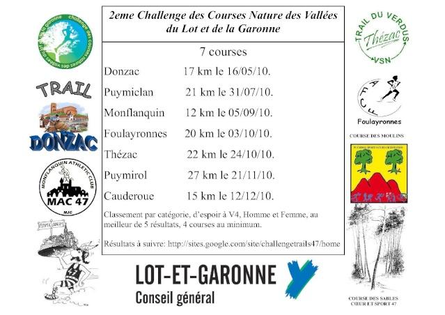 Challenge des courses Natures du lot et garonne 2010. Flyer_10