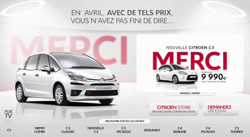 [ACTUALITE] Les promotions de Citroën Merci10