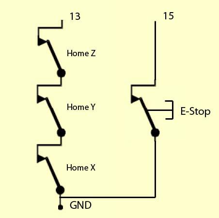 """[Mach3] Branchement et paramétrage contacts """"Home"""" et """"E-Stop"""" Ct_en_10"""