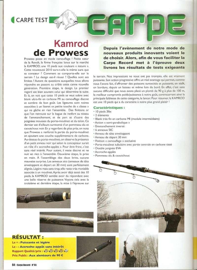 test de canne 10'kamrod de prowess carpe record mars2010 Numari10
