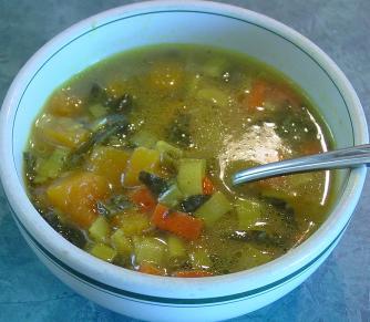Soupe à la courge musquée & épinards Courge10