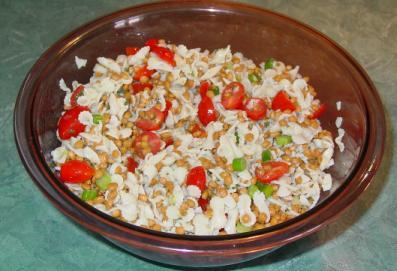 Salade de pâtes & lentilles d'Angélina Salade11