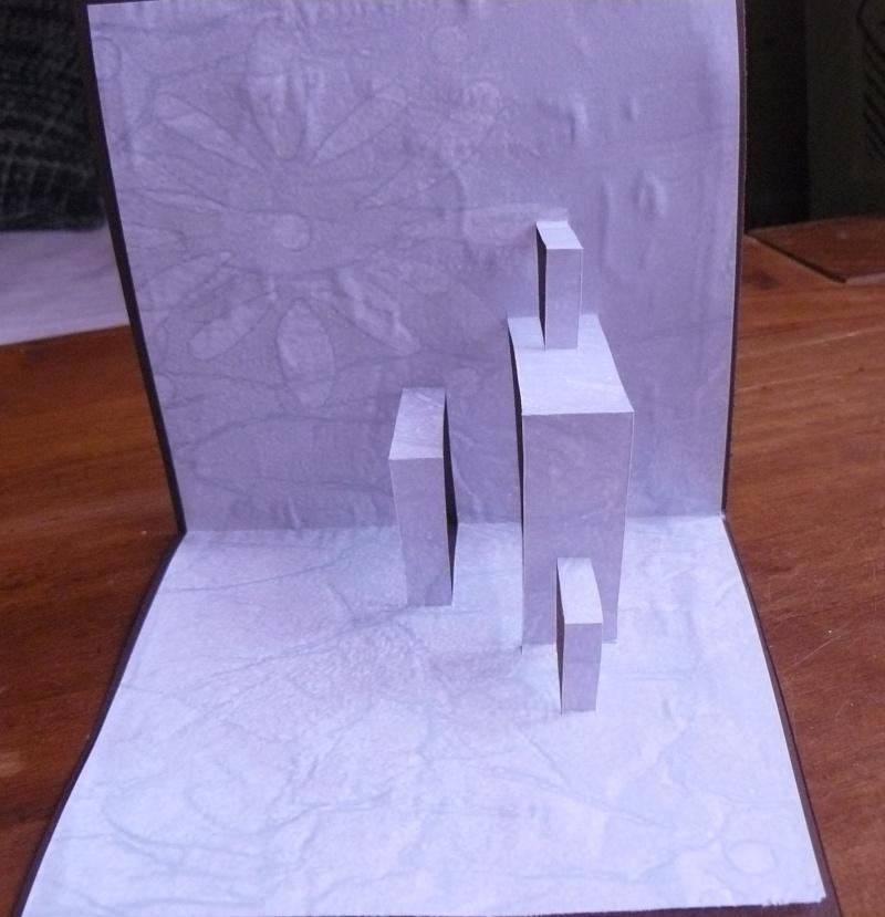 Cartes pop-up - leçon 1 - pop-up double fente - la maquette 00214