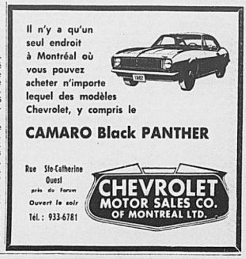 Mecum Chicago : Camaro Black Panther  1967_011